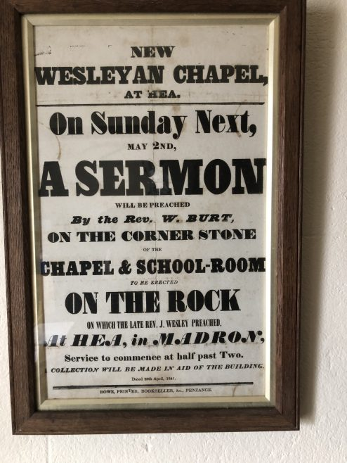 Wesley Rock former Wesleyan Chapel, Heamoor nearPenzance Cornwall