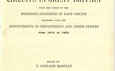 Hall's Circuits and Ministers: 1913 to 1923