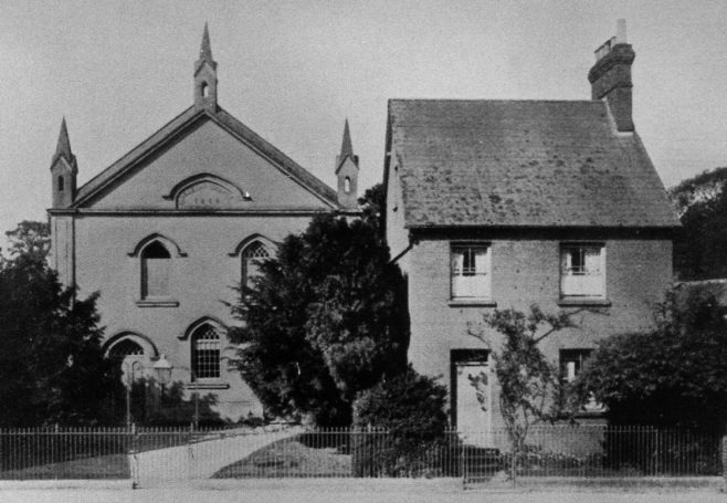 Whitchurch Wesleyan Methodist Chapel and Manse. Built 1844, followed by the Manse in 1868. Photo from Thomas Durley's book