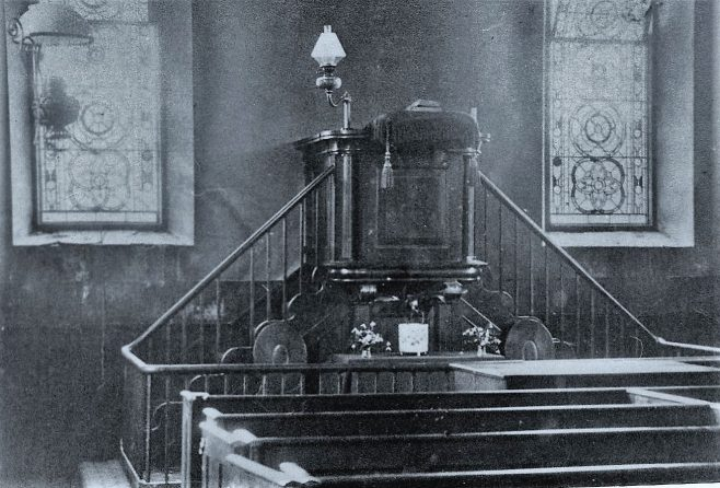 The original pulpit of the Wesleyan Chapel, Whitchurch, Bucks.