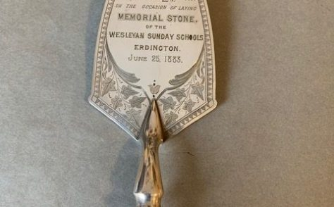 Erdington Wesleyan Chapel - Sunday School trowel