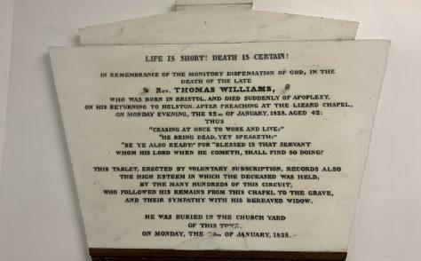 Rev Thomas Williams- Wesleyan minister