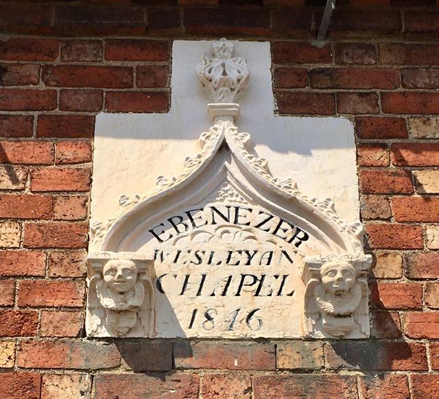 Datestone of Weston on Trent  Wesleyan Methodist chapel | Christopher Hill July 2021