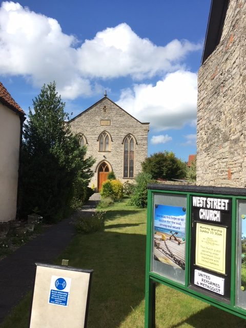 Somerton Wesleyan Methodist chapel from the road | Christopher Hill August 2021