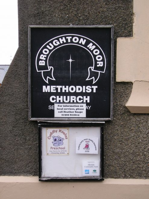 03 Broughton Moor, WM Chapel, notice board , 20.09.2014 | G W Oxley
