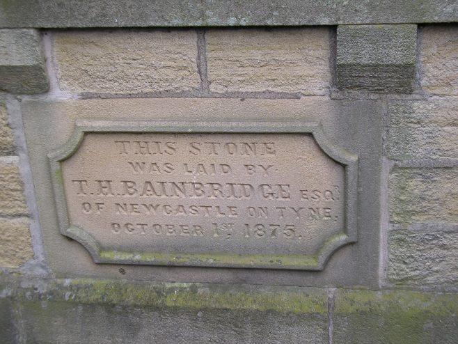 04 Allendale Town WM Chapel, foundation stone (ii), 16.02.2014 | G W Oxley