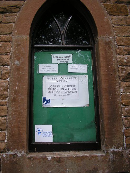 7 Stockdalewath WM Chapel, notice board  03.08.2014 | G W Oxley