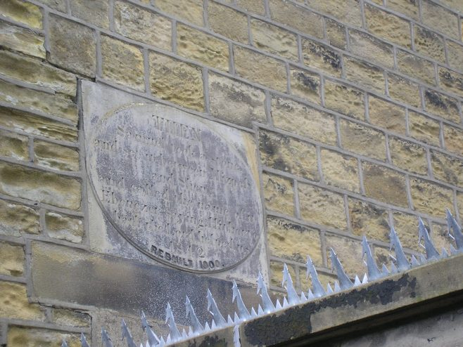 Almondbury WM Chapel, Plaque | G W Oxley