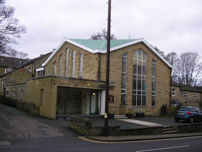 Almondbury WM Chapel, church and vestibule | G W Oxley