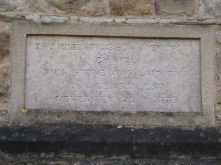 Arnside WM Chapel, foundation stone, 2.3.2017 | G W Oxley