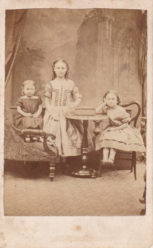Edith, Annie and Alice Day in about 1869