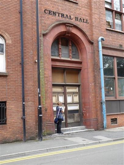 Birmingham Central Hall, Wesleyan  Chapel, Dalton Street entrance, 18.7.2018   G W Oxley
