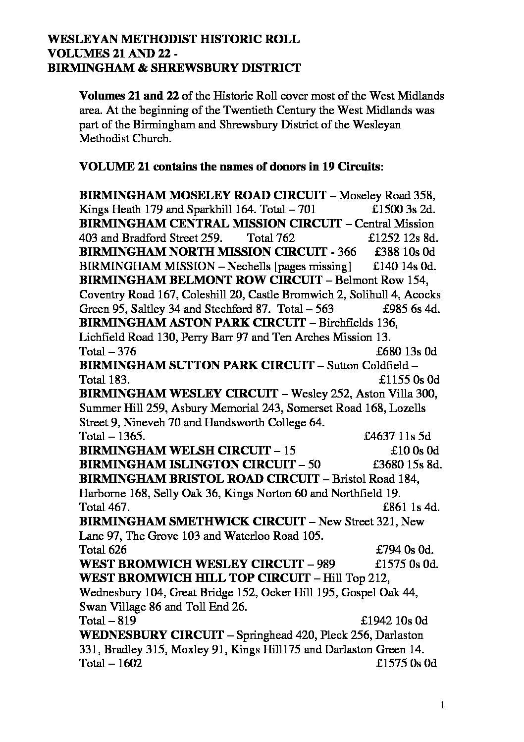 Wesleyan Historic Roll volume 21