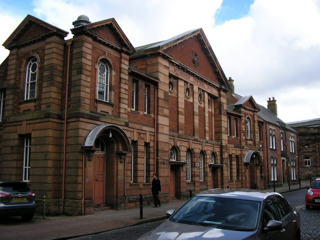 Carlisle,Central Hall, Fisher Street from north west, 29.3.2016 | G W Oxley