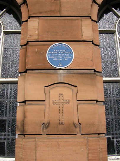 Carlisle,Central Hall, Fisher Street plaque (ii), 29.3.2016