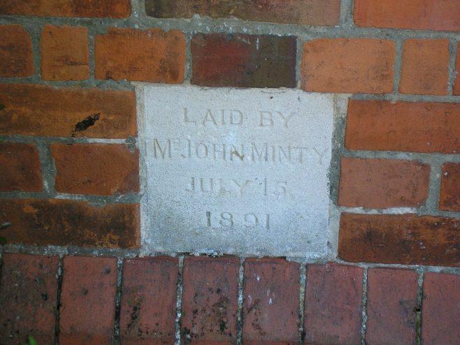 Caversham Wesleyan Chapel, foundation stone (i) | G W Oxley