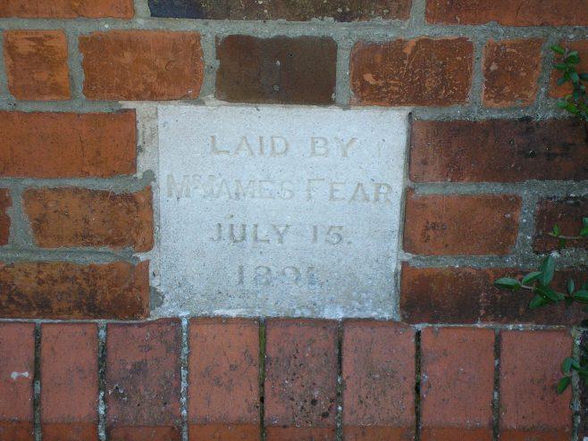 Caversham Wesleyan Chapel, foundation stone (ii) | G W Oxley