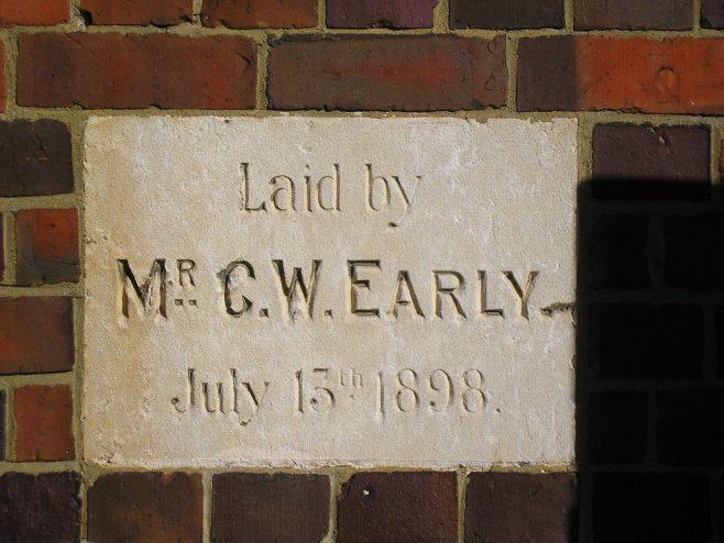 Caversham Wesleyan Chapel, foundation stone (iii) | G W Oxley
