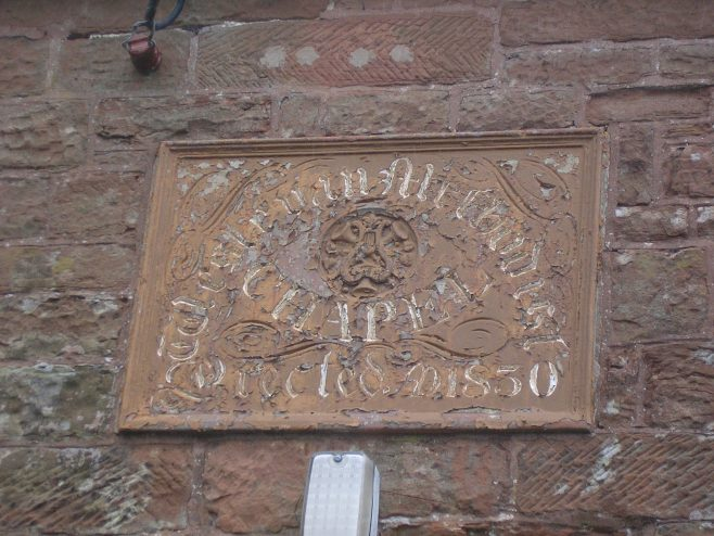 Culgaith WM Chapel, date plaque, 25.4.2015 | GW Oxley