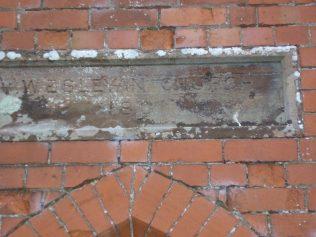 Date plaque,WM Chapel, Stoneraise, Cumbria, December 2013