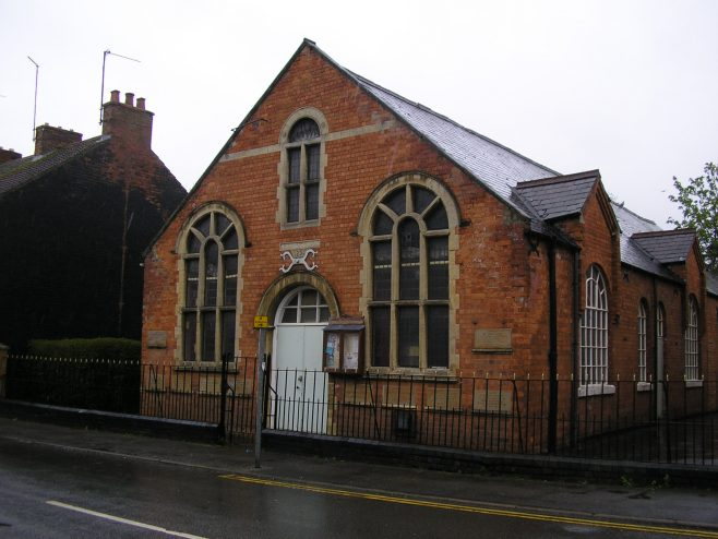 Desborough, Victoria Street Wesleyan Chapel,  south side of Sunday schooll, ,  28.4.2018 | G W Oxley