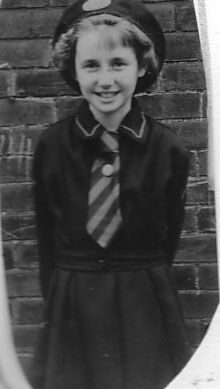 Me in my Girls Brigade uniform, about 1957