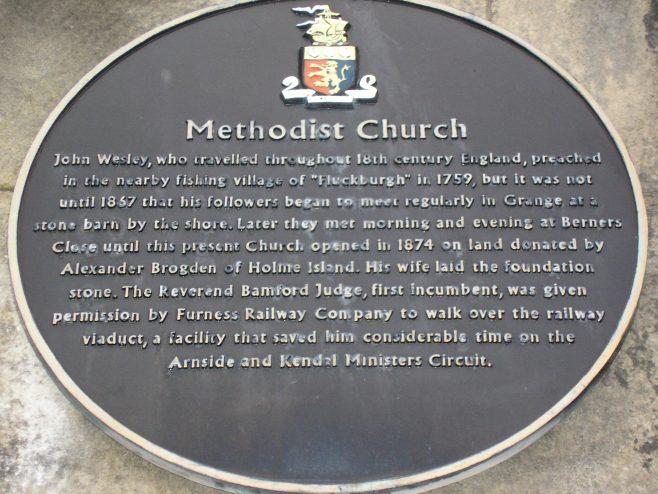Grange over Sands WM Chapel, heritage plaque, 15 April 2016 | G W Oxley