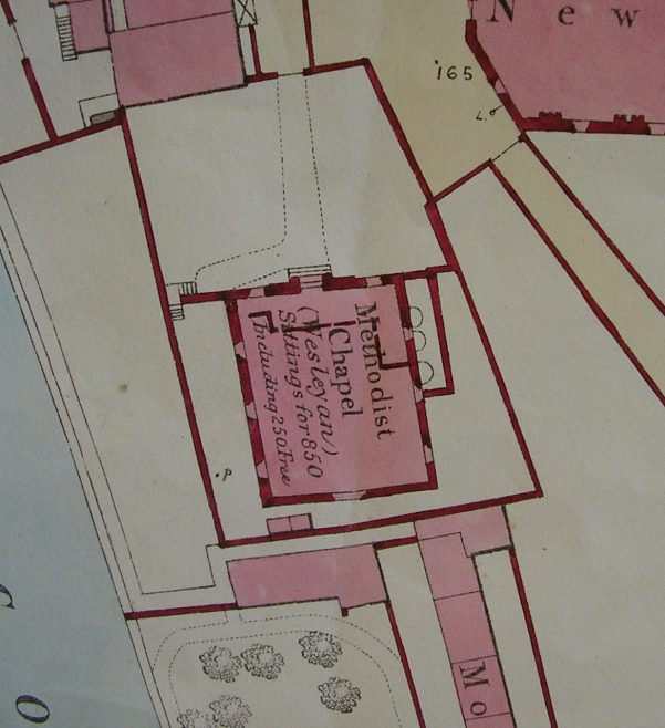 Ground plan of Cockermouth Market Street WM  Chapel from 0S 1 to 500 Cumberland LIV 4 23 circa 1860i