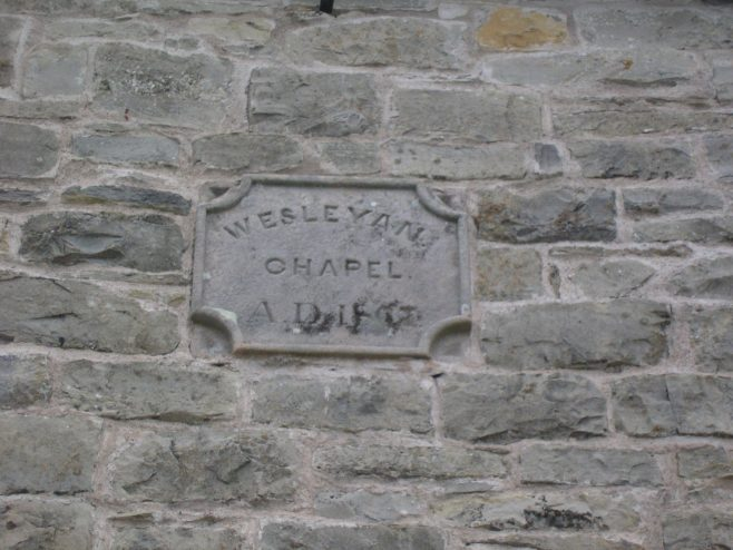 Helton Wesleyan Chapel, date plaque, 13.6.2015 | G W Oxley