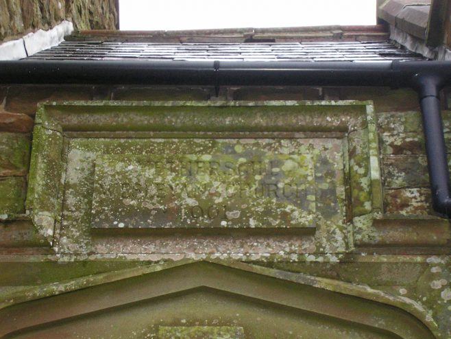 Hethersgill WM Chapel , date plaquefrom south,  7.2.2016 (i) | G W Oxley