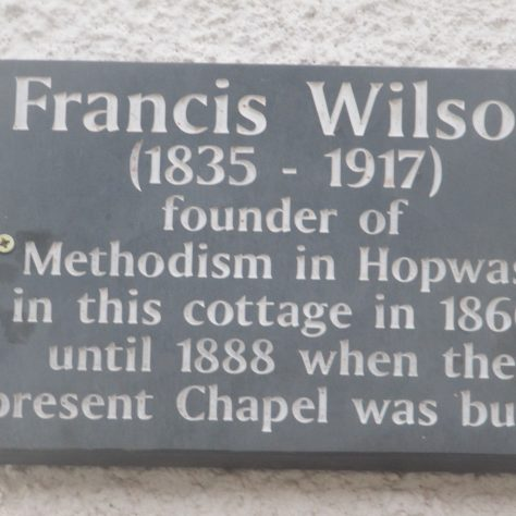 Commemorative plaque in Hopwas, Staffs