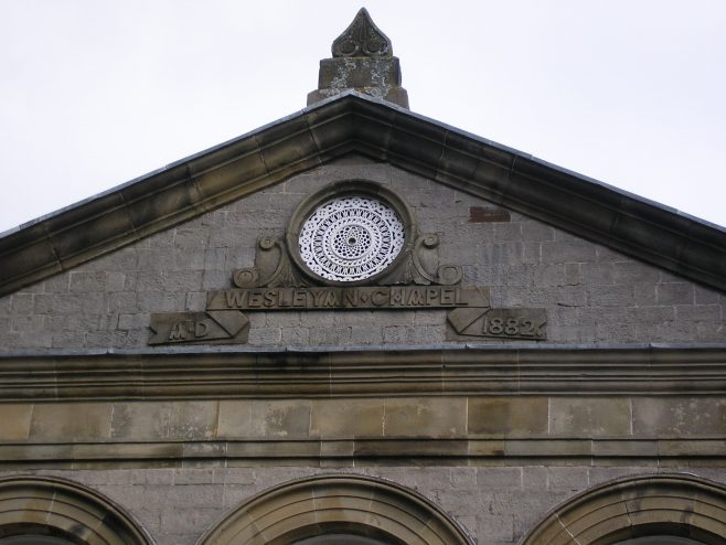 Kendal Striclklandgate WM Chapel, date plaque, 16 April 2016 | G W Oxley