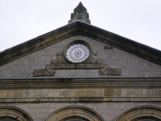 Kendal Striclklandgate WM Chapel, date plaque, 16 April 2016 | G W Oxley