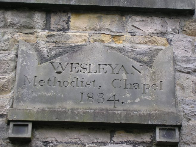 Kirby Lonsadale WM Chapel, date stone (ii), 13 April 2016 | G W Oxley