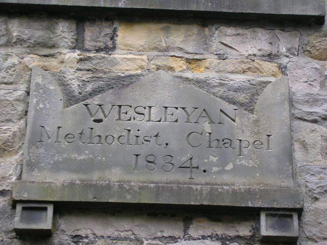 Kirby Lonsadale WM Chapel, date stone (ii), 13 April 2016 | G W Oxley