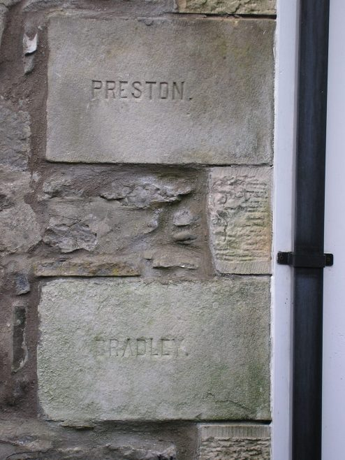 Kirby Lonsadale, WM Chapel, 1893 extensions,foundation stone (iv), 13 April 2016 | G W Oxley