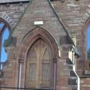 Kirkoswald Main Street  WM Chapel, date stone and porch 24.02.2018