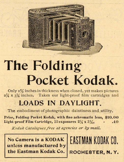 Camera advert circa 1898