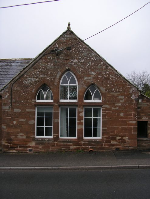 Langwathby WM Chapel, extension with date plaque (i), 25.4.2015 | GW Oxley