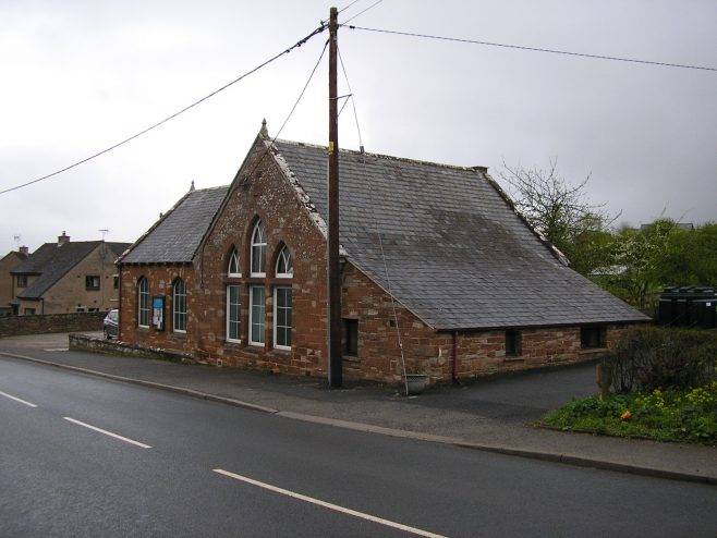 Langwathby WM Chapel, from southeast, 25.4.2015   GW Oxley