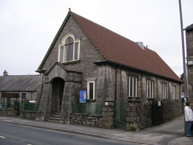Milnthorpe, Beetham Road WM Chapel, from south, 15 April 2016 | G W Oxley