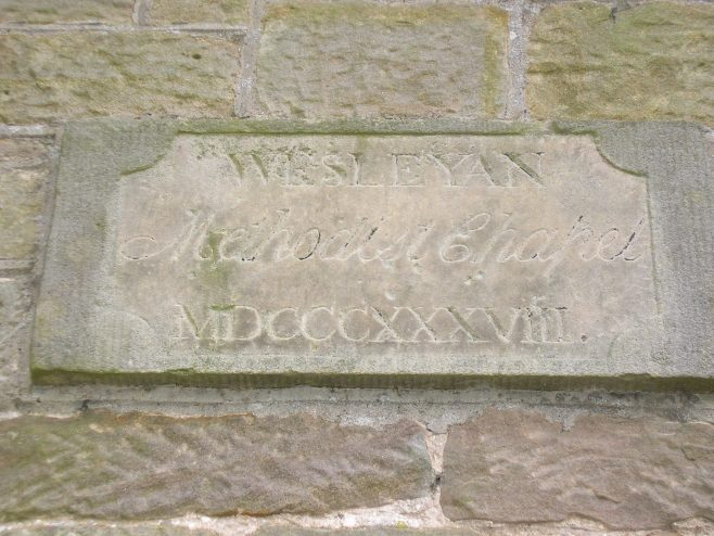 Nickies Hill WM Chapel, date plaque,  7.2.2016 (i) | G W Oxley