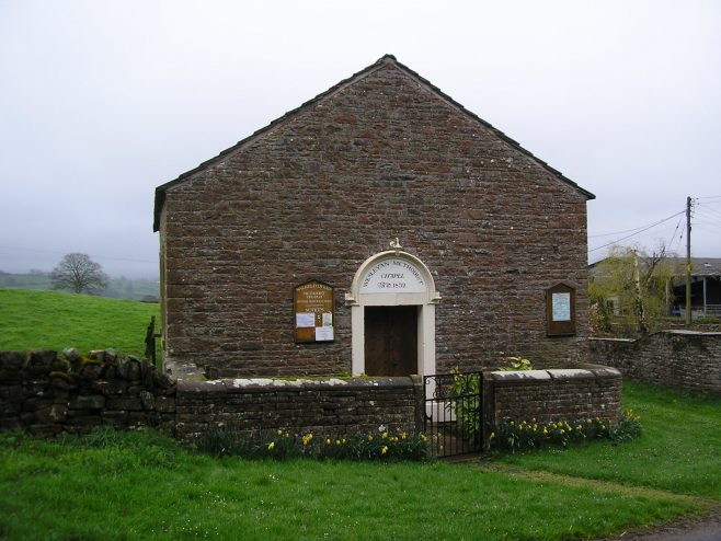 Salkeld Dykes WM Chapel, facade and date plaque | GW Oxley