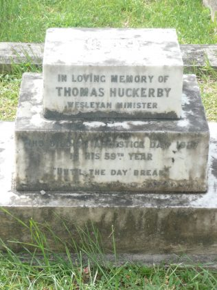Grave of Thomas Huckerby, Kingstown Methodist Church, St Vincent