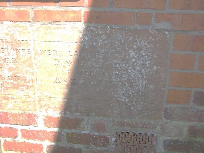 Thurstonfield WM Chapel, Jubilee memorial stone (iii) | G W Oxley