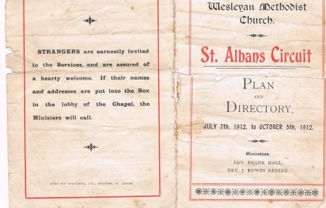 St. Albans Circuit Plan and Directory
