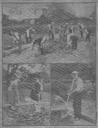 Preparing the foundations. (Arthur Walker bottom right) Click to enlarge