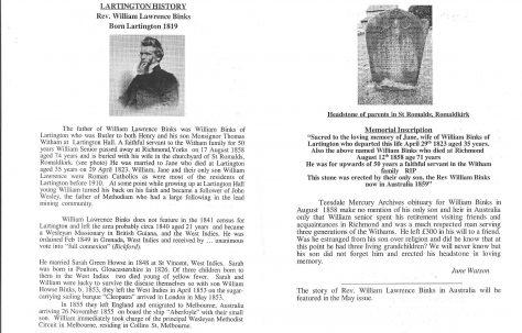Rev William Lawrence Binks