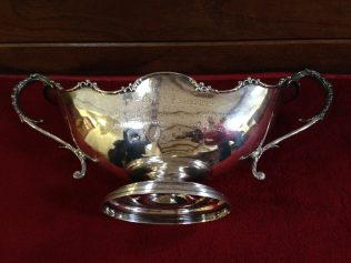 Silver Rose Bowl presented to Henry Salisbury