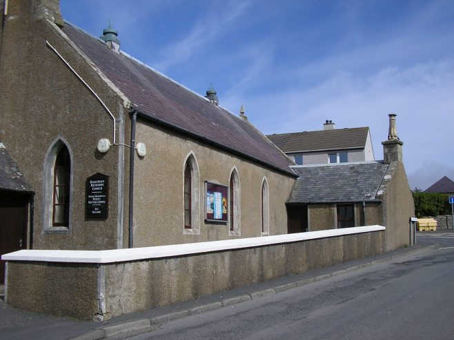 Scalloway Methodist Chapel, 24 May 2017, side view | G W Oxley